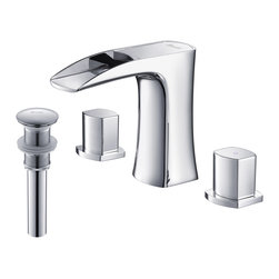 RIVUSS - RIVUSS Carrión FBWS-300 - Lead-Free Solid Brass Widespread Bathroom Faucet     , - RIVUSS Carrión FBWS-300