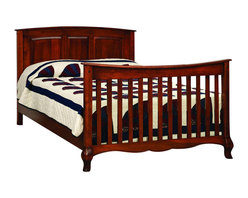 Chelsea Home Furniture - Chelsea Home Lincolnshire Crib with Full Size Rails in Amber - As children go through stages as they grow, so should their furniture. The Lincolnshire Convertible Crib Set in Brown Maple solid wood and Amber finish, is a 3-stage bed system that is constructed with quality and durability to transition any newborn into adulthood with elegance. The crib comes with paneled backboard detail and curved embellishment at the base and feet. This CPSC 16 CFR 1219 and 1220 compliant convertible piece is complete with guard rail and 3-level mattress support, and simple transition instructions to keep your child resting easy and comfortable. Chelsea Home Furniture proudly offers handcrafted American made heirloom quality furniture, custom made for you. What makes heirloom quality furniture? It's knowing how to turn a house into a home. It's clean lines, ingenuity and impeccable construction derived from solid woods, not veneers or printed finishes over composites or wood products _ the best nature has to offer. It's creating memories. It's ensuring the furniture you buy today will still be the same 100 years from now! Every piece of furniture in our collection is built by expert furniture artisans with a standard of superiority that is unmatched by mass-produced composite materials imported from Asia or produced domestically. This rare standard is evident through our use of the finest materials available, such as locally grown hardwoods of many varieties, and pine, which make our products durable and long lasting. Many pieces are signed by the craftsman that produces them, as these artisans are proud of the work they do! These American made pieces are built with mastery, using mortise-and-tenon joints that have been used by woodworkers for thousands of years. In addition, our craftsmen use tongue-in-groove construction, and screws instead of nails during assembly and dovetailing _both painstaking techniques that are hard to come by in today's marketplace