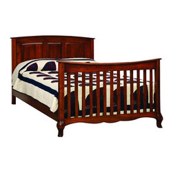 Chelsea Home Furniture - Chelsea Home Lincolnshire Crib w/ Full Size Rails in Amber - As children go through stages as they grow, so should their furniture. The Lincolnshire Convertible Crib Set in Brown Maple solid wood and Amber finish, is a 3-stage bed system that is constructed with quality and durability to transition any newborn into adulthood with elegance. The crib comes with paneled backboard detail and curved embellishment at the base and feet. This CPSC 16 CFR 1219 & 1220 compliant convertible piece is complete with guard rail and 3-level mattress support, and simple transition instructions to keep your child resting easy and comfortable.