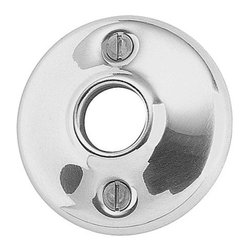 Renovators Supply - Door Knob Roses Bright Chrome Pr Colonial 2 1/2'' Door Knob Rose - Door Rose. Passage Doorknob Roses: These bright chrome door roses have a 2 1/2 in. outer diameter and a 5/8 inch inner diameter. These door roses work with our dummy spindle (20152). Sold in pairs, screws included.