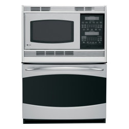 "GE Profile - PT970SRSS 30"" Double Electric Combination Wall Oven With 4.4 Cu. Ft. Oven Capaci - This GE 30 in built-in double microwaveconvection wall oven provides exceptional versatility for superior performance The PreciseAir convection system in the lower oven provides accurate heat circulation to ensure evenly baked foods Sensor Cooking Co..."