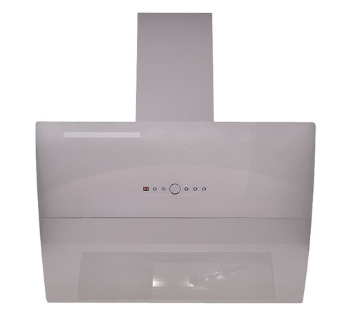 """AKDY - AKDY  AK-Z10B7 Euro Stainless Steel Automatic Wall Mount Range Hood, White, 30"""" - The tempered glass canopy and the 19 gauge white stainless steel on this range hood will bring a sleek, modern look to your kitchen. The internal blower features a low noise dual chamber and centrifugal motor, that pulls smoke and fumes up into the dishwasher safe aluminum grease filter. This hood has 3 speed settings, each with a timer function, that increase up to 760 CFM. This hood features a touch sensitive glass with LED lighting and an automatic shut off system. The dual LED light bars provides a work space with no shadows. This wall mounted vent hood features a telescopic chimney that fits ceilings up to 8.5-feet."""