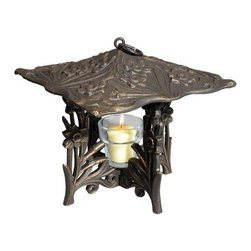 Whitehall Products LLC - Daffodil Twilight Lantern - Oil Rub Bronze - Features: