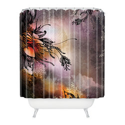 DENY Designs - Iveta Abolina Purple Rain Shower Curtain - Who says bathrooms can't be fun? To get the most bang for your buck, start with an artistic, inventive shower curtain. We've got endless options that will really make your bathroom pop. Heck, your guests may start spending a little extra time in there because of it!