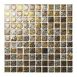 Mosaic Glass Tiles - Gold Rush Precious mosaic tile.