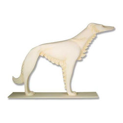 Orlandi Statuary - Russian Wolfhound Garden Statue Multicolor - F9580RUSSIANWOLFHND - Shop for Statues and Sculptures from Hayneedle.com! The Russian Wolfhound Garden Statue is a beautifully stylish rendition of this magnificent animal. The long and flowing fur is captured in rounded triangles and the details of the dogs face are intricately carved in this gorgeous piece. A slender body and long legs give this high quality statue a graceful look that will become a focal point in your garden or on the porch. This graceful statue is cast in a weather-resistant fiberglass resin and finished with a hand-applied coating to enhance the elaborate detail. This statue will blend with your gardens theme.About Orlandi StatuaryBorn in 1911 when Egisto Orlandi traveled from Lucca Italy to Chicago Illinois Orlandi Statuary quickly set the standard for excellence in their industry. Egisto took great pride in his craft and reputation and which is why artists interior designers and museums relied upon the careful details and impeccable quality he demanded. Over the years they've evolved into a company supplying more than statuary. Orlandi's many collections today include fiber stone for the garden religious statuary fountains columns and pedestals. Their factory and showroom are still proudly located in Chicago where after 100 years they remain an industry icon.