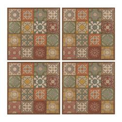 Patchwork Metal Wall Decor Panels - Set of 4 - *Dimensions: 20Hx1Wx20L