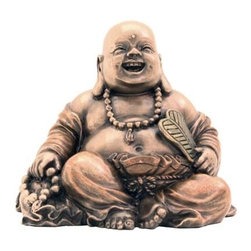 TLT - 2.5 Inch Cold Cast Bronze Finish Small Happy Laughing Buddha Statue - This gorgeous 2.5 Inch Cold Cast Bronze Finish Small Happy Laughing Buddha Statue has the finest details and highest quality you will find anywhere! 2.5 Inch Cold Cast Bronze Finish Small Happy Laughing Buddha Statue is truly remarkable.