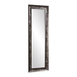 Howard Elliott - Howard Elliott 69028 Belize Floor Mirror - 69028 Belize Floor Mirror belongs to Collection by Howard Elliot This Belize mirror features an interesting pewter & black Checkered Textured finish. Mirror (1)