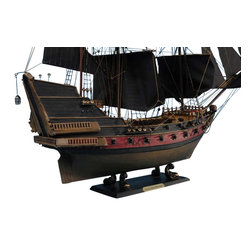 "Handcrafted Nautical Decor - Black Bart's Royal Fortune Limited 24"" - Black Sails - Sold fully assembled"