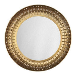 """Robert Abbey Lighting - Robert Abbey Jonathan Adler Mayfair Backlit Mirror in Antique Brass - Bulb Type: T9 12 Circline CFLDirect Wire OnlyAntique Brass Finish w/Crystal Accents20"""" Dia. Mirror"""