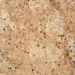 "Kashmir Gold Polished Granite Floor & Wall Tiles 12"" x 12"" - 12"" x 12"" Kashmir Gold Polished Granite Floor and Wall Tile is a great way to enhance your decor with a traditional aesthetic touch. This polished tile is constructed from durable, impervious granite material, comes in a smooth, unglazed finish and is suitable for installation on floors, walls and countertops in commercial and residential spaces such as bathrooms and kitchens."