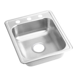 Elkay - Elkay Dayton D117213 Single Basin Drop In Kitchen Sink Multicolor - 142740 - Shop for Kitchen from Hayneedle.com! It's the most-used item in the kitchen make it count with the Elkay Dayton D117213 Single Basin Drop In Kitchen Sink. The sleek design features a convenient single bowl design so you can get everything done in an easy compact way. Now all you need is the perfect faucet. Constructed of stainless steel with sound-deadening properties to reduce noise.About Elkay Elkay sinks faucets and accessories are the American standard. Elky has been family owned since 1920. What started as a father and son sink manufacturing company on the north side of Chicago has grown to become an international company and America s number one selling stainless steel sinks company as well as a name well-known for top-quality faucets water coolers and drinking fountains. Elkay is the professional s choice.