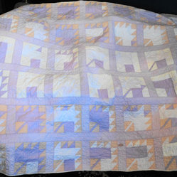 Handmade Quilt, Pastel Leaf Pattern by Wendy