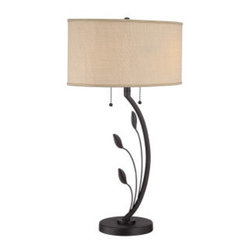 Quoizel - Quoizel Q1507T Quoizel Portable Lamp Table Lamp with 2 Lights and Pull Chain Swi - Accent your home d�cor with this enchanting 2 light table lamp featuring a tan hardback shade to complete its fashionable look.Features: