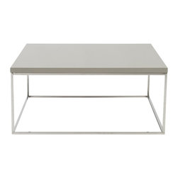 Euro Style - Euro Style Teresa Square Coffee Table X-EPT00890 - There's plain and there's perfect.  This collection of 4 Teresa table designs are not only perfectly designed for strength and timeless style, they work beautifully together.  Go for the group!