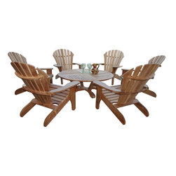Douglas Nance - Douglas Nance Atlantic Adirondack Chair 6 Seat Group - The Atlantic Adirondack Chair is our premier design. The deeply contoured back, wide arms and curved seat make this chair our top seller! The chair whispers comfort and relaxation as you sit and rest. Enjoy life - order an Atlantic today!