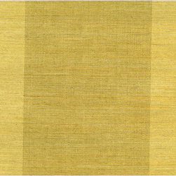 Yue Yan Olive Grasscloth Wallpaper - This beautiful grasscloth weave creates a wide stripe effect on walls in an all natural olive green hue.
