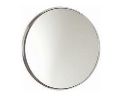 Arteriors Home - Arteriors Home Ollie Polished Aluminum Mirror - Arteriors Home 6497 - Arteriors Home 6497 - Round wall mirror with thin aluminum frame and a mirrored center.