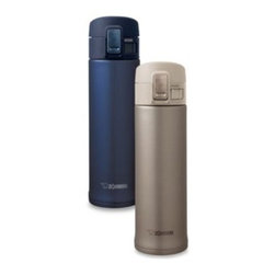 "Zojirushi - Zojirushi Stainless Thermal Mug - Stainless Mugs keep beverages hot or cold for hours with its high quality vacuum insulation and a tight fitted flip-open lid. SlickSteel"" finish interior is corrosion resistant and repels stains."