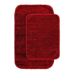 "Garland Rug - Bath Mat: Traditional Chili Pepper Red 21"" x 34"" Bathroom 2 -Piece Rug Set - Shop for Flooring at The Home Depot. Traditional Bath Rugs will complement any bathroom decor. The basic plush design is a classic look. Traditional bath rugs are made with 100% Nylon for superior softness and quality. Proudly made in the USA."
