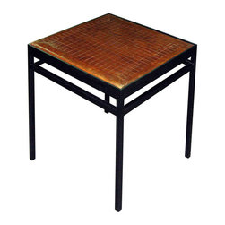Japanese Go Board Table - Hand-carved taisho period Japanese game board known as Go, made from keyaki wood with beautiful grain, on a custom metal base. Popular game of Go is played with white and black chips.