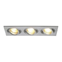 SLV Lighting - SLV Lighting New Trixie 3 ES111 Recessed Luminaire - Product Details: The New Trixie 3 ES111 recessed luminaire was designed in Germany. This recessed spotlights are ideal to apply in the modern living room, kitchen, office or shop. The halogen spotlights are fully adjustable. Installation: Airtight IC Box required & New Construction housing, Consult factory for availability.