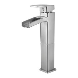 Price Pfister - Price Pfister GT40-DF0K Kenzo Single Handle Vessel Lead Free Bathroom Faucet in - Price Pfister GT40-DF0K Kenzo Single Handle Vessel Lead Free Bathroom Faucet in Brushed NickelModern-inspired Bathroom faucets with sleek architecture, simplistic lines and a beautiful water-efficient waterfall trough design. A delight for residential and hospitality projects alike.Price Pfister GT40-DF0K Kenzo Single Handle Vessel Lead Free Bathroom Faucet in Brushed Nickel, Features:• Complete Collection with Coordinating Roman Tub and Tub & Shower Options