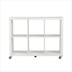 Eurostyle - Sabra 2X3 Storage Unit-Wht - High-gloss lacquered MDF (5mm thick)