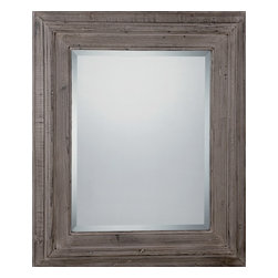 Quoizel - Quoizel Age Gray Mirrors/Pictures - SKU: CKNV1751 - This impressive mirror adds the finishing touch to any home decor. The traditional appeal of the New Valley mirror mixes a classic wood style with the sleek appearance of the new age gray. Beautiful style.