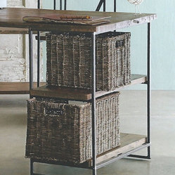 Rustic Willow Desk Baskets (Set of Two)