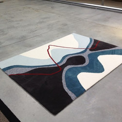 Showroom Products - This is a custom designed rug from Ascend. Our showroom in Southern California, is one of the few to offer this fabulous collection of unique rugs and carpets made in New Zealand.  Custom sizes and colors of this design are available.  Contact Hemphill's Rugs & Carpets for details.  www.RugsAndCarpets.com