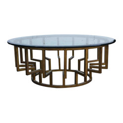 New York Glass Round Cocktail Table