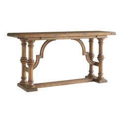 Stanley Furniture - La Palma Living Room Flip Top Console - Caramel Finish - Suitable for use as a desk, dining table or accent table, the Fliptop Console Table in Caramel is as versatile as it is beautiful. Made to order in America.