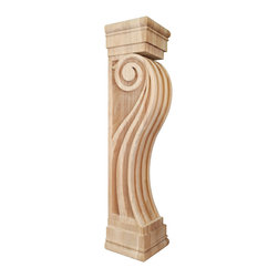 "Hardware Resources - Fluted Wood Fireplace / Mantel  8"" x 8"" x 36"" Species: Cherry - Fluted Wood Fireplace / Mantel Corbel.  8"" x 8"" x 36"".  Species:  Cherry"