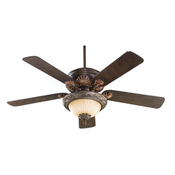 Quorum International - Quorum International 1230-888 Madeleine Corsican Gold Fan Light Kit - Quorum International 1230-888 Madeleine Gold Ceiling Fan Light