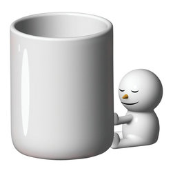"Alessi - Alessi ""Hug"" Mug - Give the gift of hugs or bestow one on yourself. This mug is a cartoon-like, snowman porcelain mug perfect for hot cocoa, tea, coffee or hot apple cider. Fun and functional, it makes a great host for candy canes on your desk!"