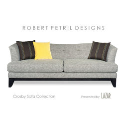 Sofa Designs by Robert Petril - Crosby Sofa Collection by Robert Petril for Lazar Industries.