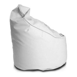 Turbo BeanBags - Beanbag Leader, White, Filled Bag - The Leader beanbag is a unique seat from Turbobeds primarily due to its shape and size. High, comfortable seat construction makes your back when sitting still rest with a convenient basis, plus the every movement of the back is gently massaged by small balls.