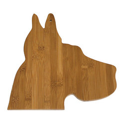 Bamboo Great Dane Cutting Board