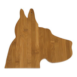 Bamboo Great Dane Cutting Board - Chop up some treats for your pup on this eye-catching cutting board. Mine will do just about anything for a slice of cheese!