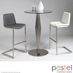 Pastel Furniture Alexandria Table with Buxton Barstool Set - Alexandria Pub Table with Buxton Barstool Set