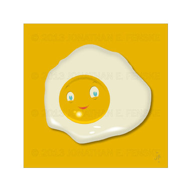 Sunny Side in Yellow Modern Art Canvas -