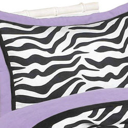 Sweet Jojo Designs - Purple Zebra Pillow Sham - The Purple Zebra standard pillow sham is created exclusively to coordinate with the Sweet Jojo Designs matching bedding set. This pillow sham is a quick and easy way to complete the look and theme in your child's bedroom. Machine washable. Fits all standard sized pillows. Dimensions: 20in. x 26in.