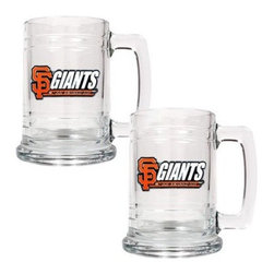 Great American MLB 15 oz. Glass Tankard Set - About Great American ProductsWith beginnings as a belt buckle maker in Texas, Great American products has become the leader in licensed metal emblems and the products that they adorn. With licenses with every major sports league, Great American products a wide range of unique products like drinkware, coolers, and kitchen accessories for the dedicated fan.