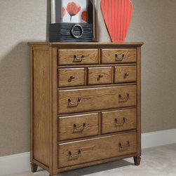 American Drew 114-215 Americana Home Drawer Chest - American Drew 114-215 Americana Home Drawer Chest Sku: 114-215Manufacturer: American DrewCollection: Americana Home Series Finish: Warm Khaki Oak Select Items: Weathered White Series Code: 114Product Code: 215Parent Product: 215Weight: 209Cubes: 33.7C Width: 48.53C Depth: 22.35C Height: 53.65Product Width: 45Product Depth: 19Product Height: 52.25Notes: 5 Drawers