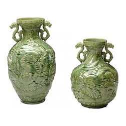 Cyan Large Singapore Vase Green Apple 04577 - Beautiful Objects for Beautiful Lives. Cyan Design is the source for unique decorative objects. Decorative accessories for the most vibrant interior design. Cyan Design continuously updates their product line of ornamental objects, stunning glass vases, garden and patio objects, embellished frames, mirrors, wall decor and a vast collection of the finest lighting fixtures. Home remodelers, interior designers, decorators rely on Cyan designs.