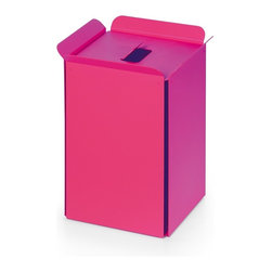 WS Bath Collections - Bandoni Paper Basket, Pink - Bandoni 53442.16 Paper Basket in Pink by WS Bath Collections