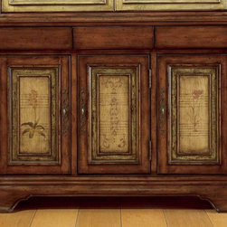 """Hooker Furniture - Hooker Furniture Vineyard 54-inch Buffet 478-75-900 - Magnificent country French dining room collection uses the """"Vineyard"""" color palette for a subtle European two-tone effect."""