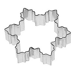 RM - Snowflake 4 In.  B1311X - Snowflake cookie cutter, made of sturdy tin, Size 4 in., Depth 7/8 in., Color silver